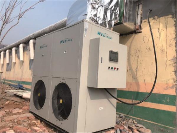 济南一养鸡场煤改空气源热泵采暖 效果好、省力且死亡率降低