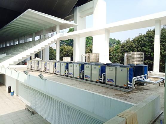 亚运会专用设备!泳池热水设备选纽恩泰空气能泳池机