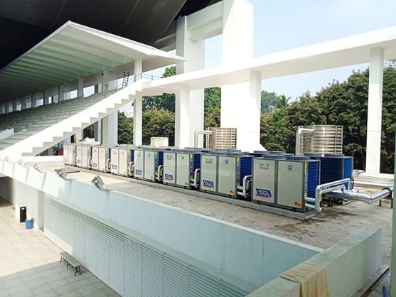 打造高品质游泳池,首选亚运会专用的纽恩泰空气能泳池机